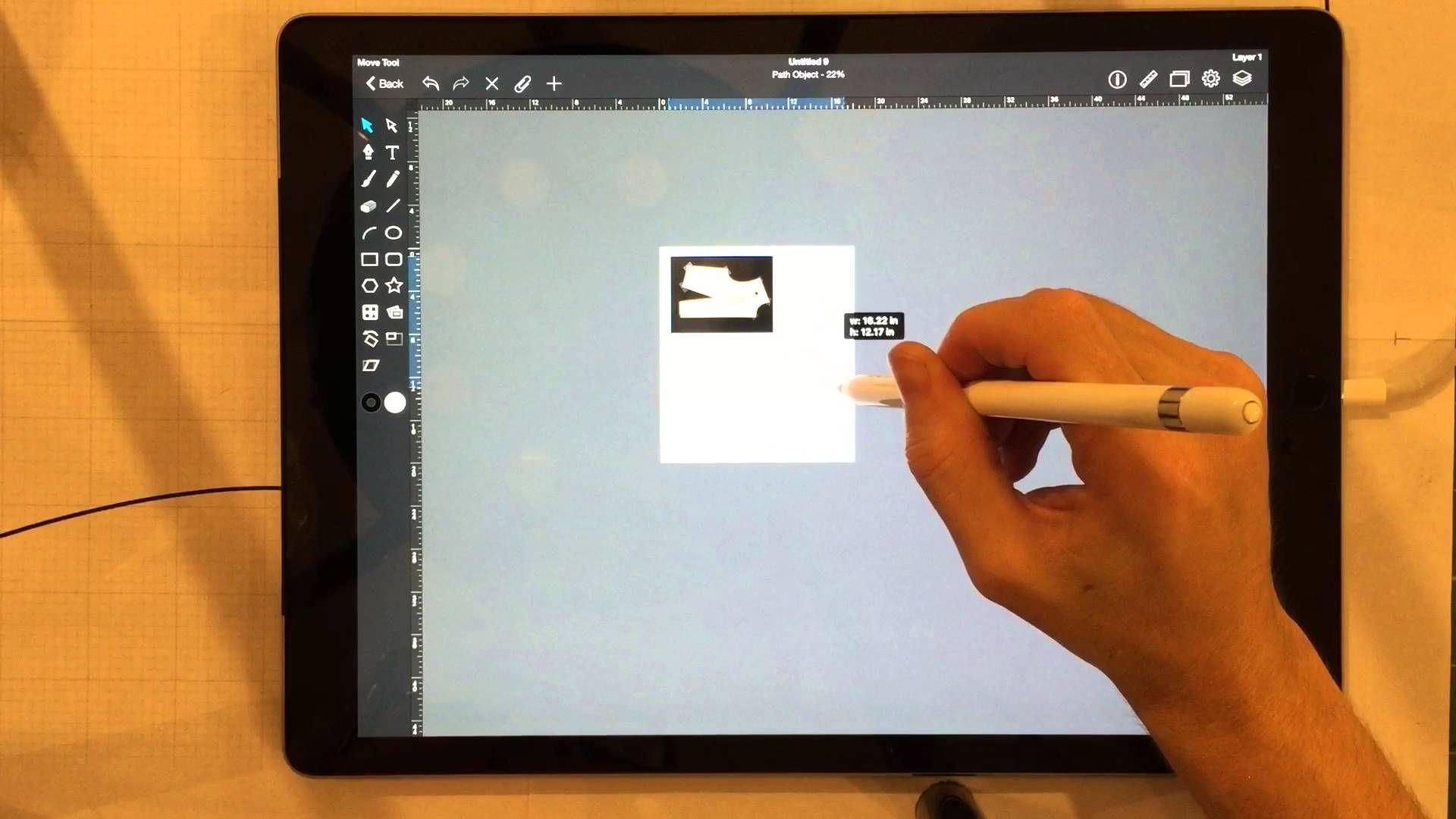 Ipad Pro And Apple Pencil For Fashion Design And Pattern Drafting Digital Fashion Design Pattern Drafting Ipad Art