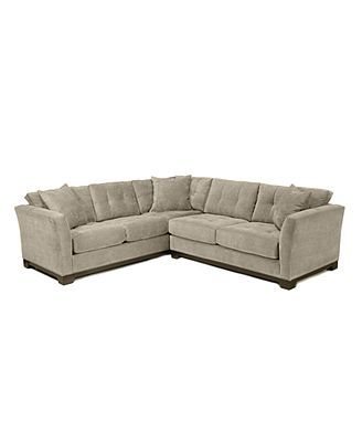 Elliot Fabric Microfiber Sectional Sofa 2 Piece 108 Quot W X