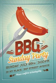 Bbq Summer Party FlyerInvitation  Party Flyer