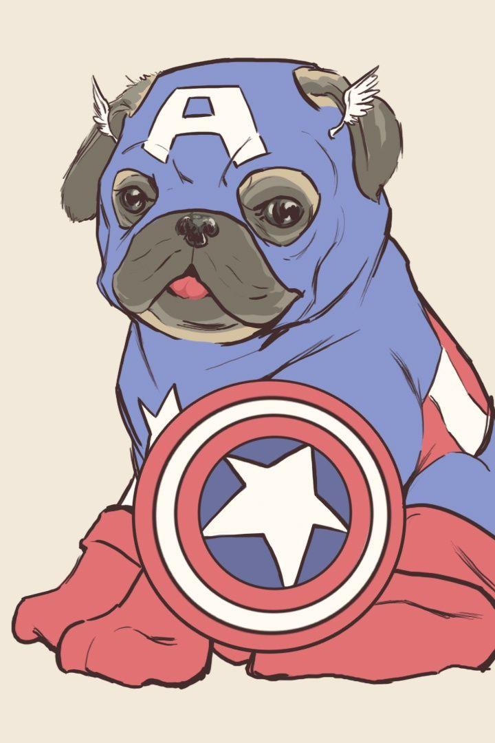 An American Pug In Paris Pug Love Pug Art