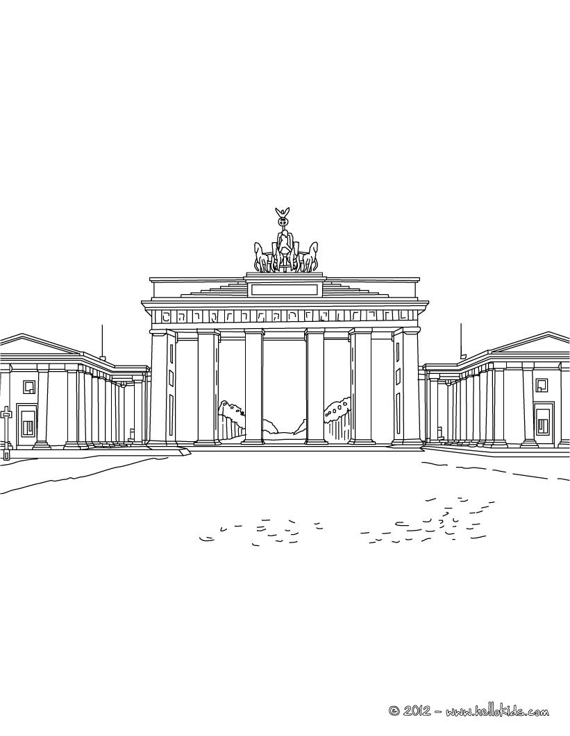 Famous Places In Germany Coloring Pages Brandenburg Gate In Berlin Brandenburg Brandenburg Gate Instagram