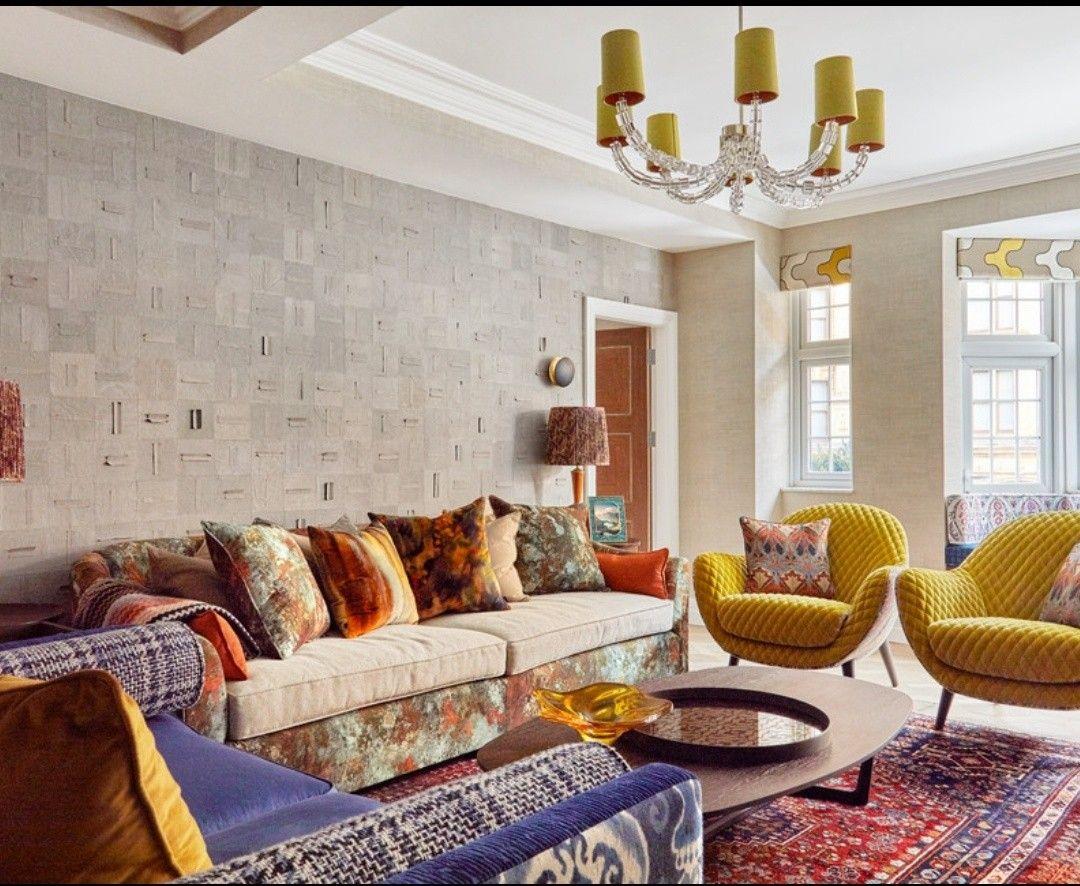 my placeamber walker  teal and orange living room