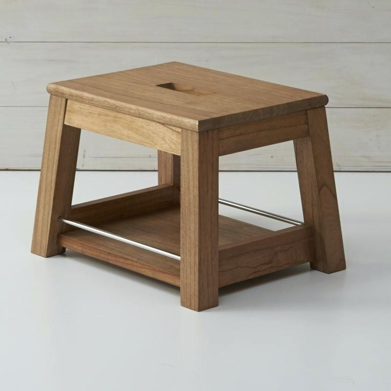 Small Wooden Step Stool Wooden Teak Step Stool Small Wooden Step