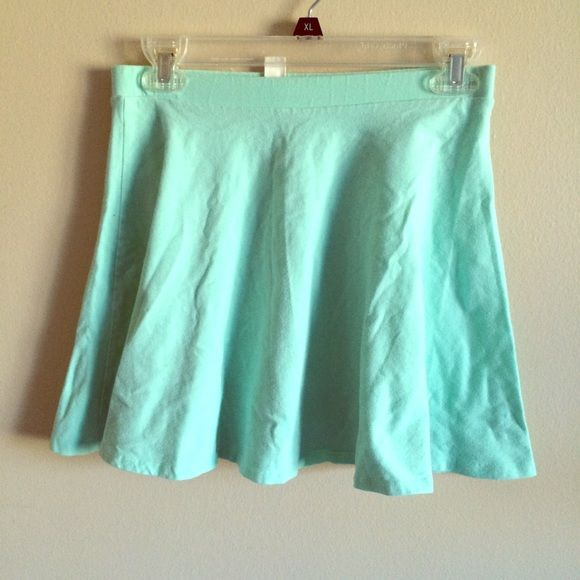 Forever 21 mint skater skirt Forever 21 mint skater skirt. Cute with a white crop top. Size m Forever 21 Skirts Circle & Skater
