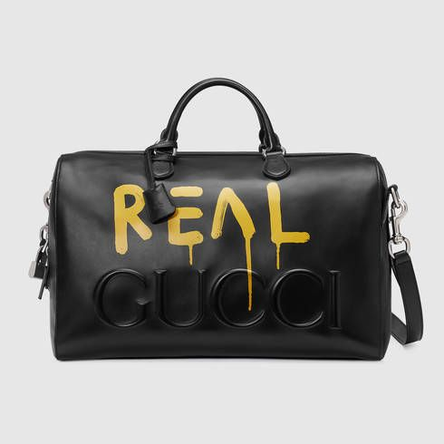 df4639c4c065 GUCCI Guccighost Duffle. #gucci #bags #leather #lace # | Gucci Men ...