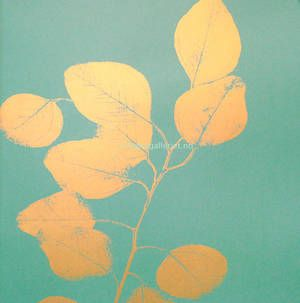 Leaf Turquoise Gold - Jocelyn Warner
