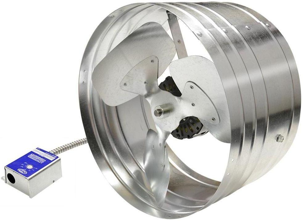 Master Flow Egv6 Power Gable Mount Attic Fan Ventilators 1600 Cfm Mill Attic Fan Roof Fan Gable Vent Fan