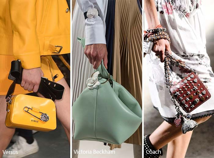 Spring/ Summer 2017 Handbag Trends: Embellishments and Charms for Bags/ Purses