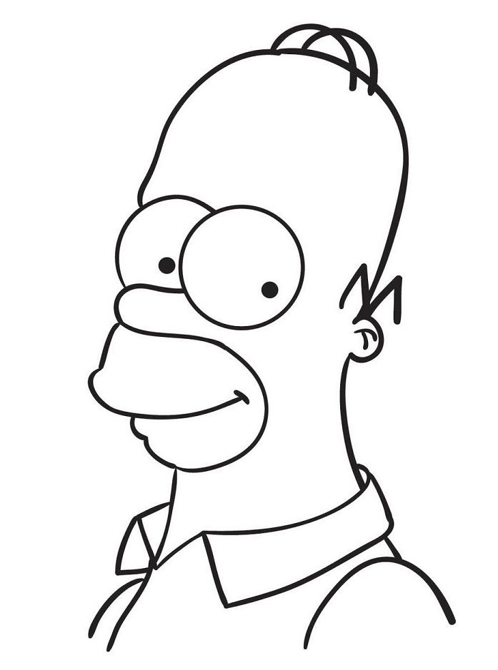 Cartoon Coloring Pages Homer Simpson Easy Cartoon Drawings Cool Cartoon Drawings Cartoon Coloring Pages