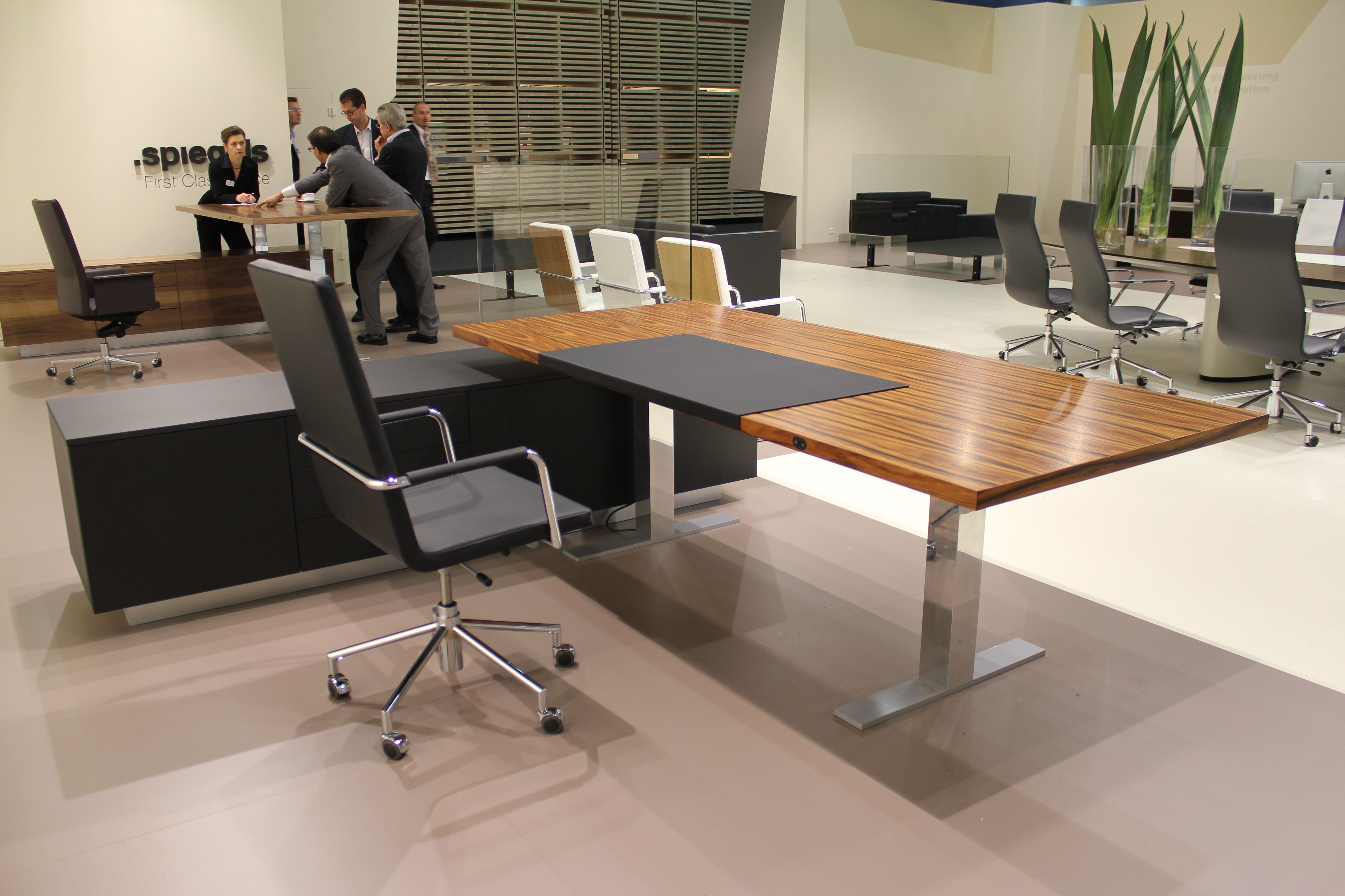 German Made Height Adjustable Desk With An Amazing Wood Finish Home Furniture