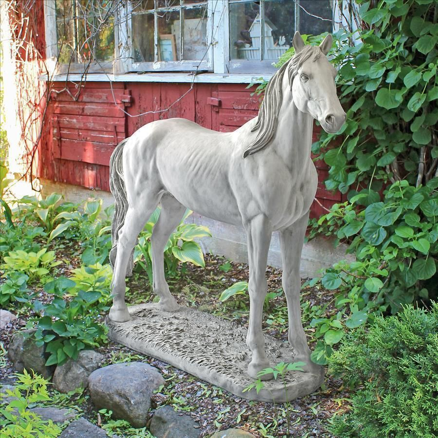 Realistic Standing Wild Horse Grand Scale Animal Sculpture Statue ...