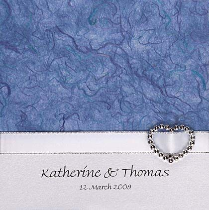 Diy wedding invitations which are supplied as a kit show here using diy wedding invitations which are supplied as a kit show here using blue mulberry paper all the items are interchangeable making it simple to suit your stopboris Image collections