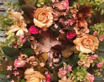 Photo of XLarge Magnolia Wreath, Summer Wreath, Door Wreath, Christmas Wreath, Cottage Wreath, Wedding Wreath, Floral Wreath Etsy, Grapevine Wreath