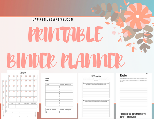 How To Use a Binder as a Planner - Increase Productivity