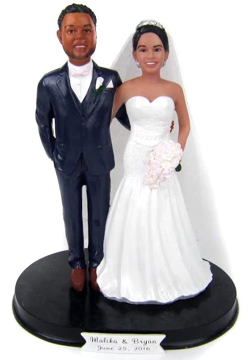 Arms Around Custom Wedding Cake Topper
