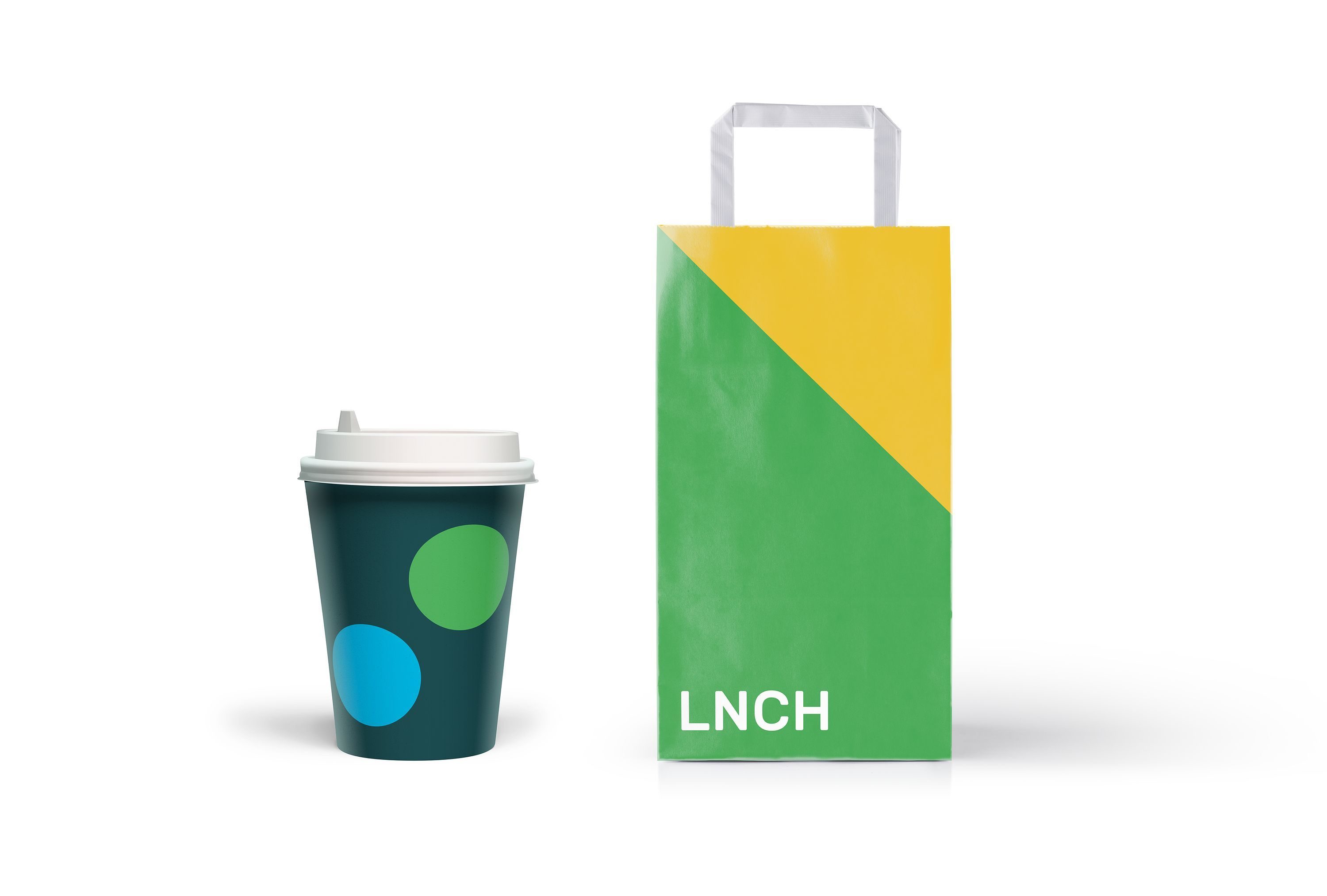 Its your world coffee paper cup and paper bag airline