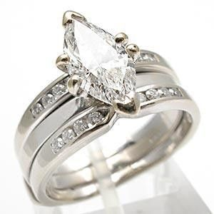 diamond ring with thick bands and marquise center stone shop jewelry rings 1 5ct marquise - Marquis Wedding Ring