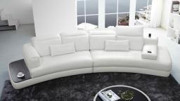 Canape Cuir Angle Design Blanc Zelo Mobiliermoss Maison