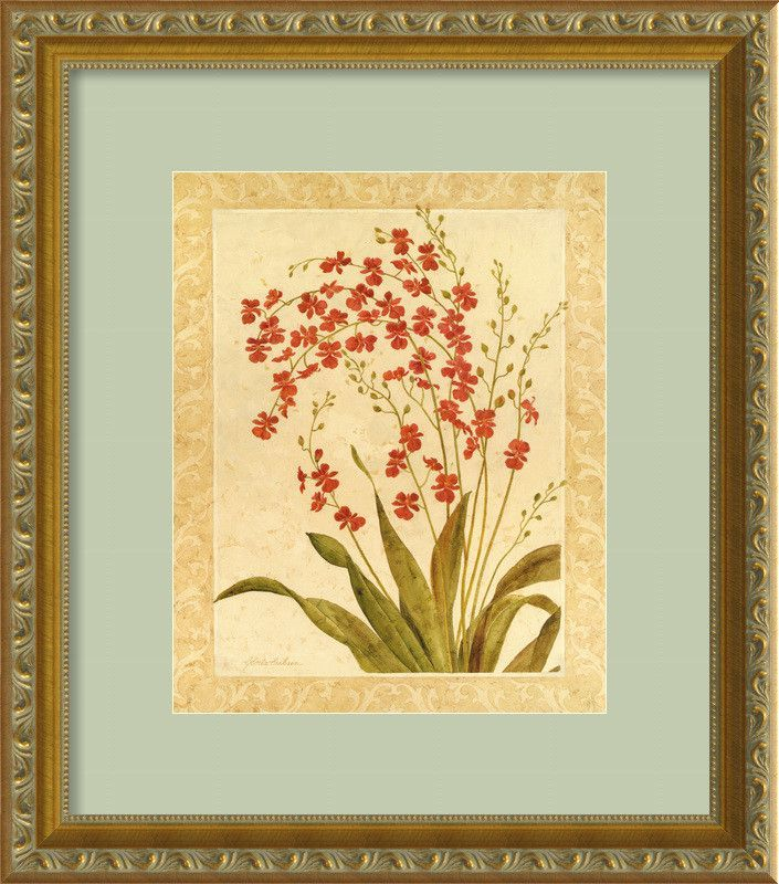 Red Begonias\' by Gloria Eriksen Framed Painting Print | Products ...