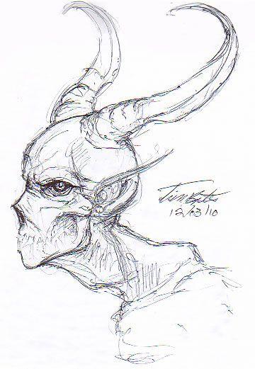 Demon Profile Sketch by Demented-Beholder on DeviantArt