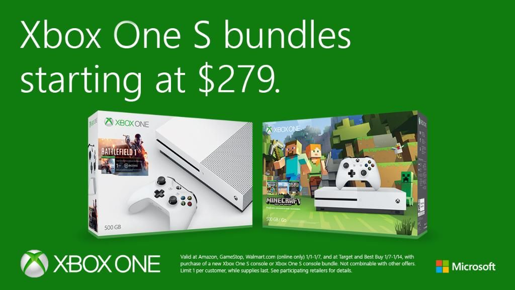 Microsoft Drops Xbox One S 500 Gb Price To 279 Free Game Included Microsoft S Xbox One S Can Be Paired With Battlefield One Gears Xbox One S Xbox Xbox One
