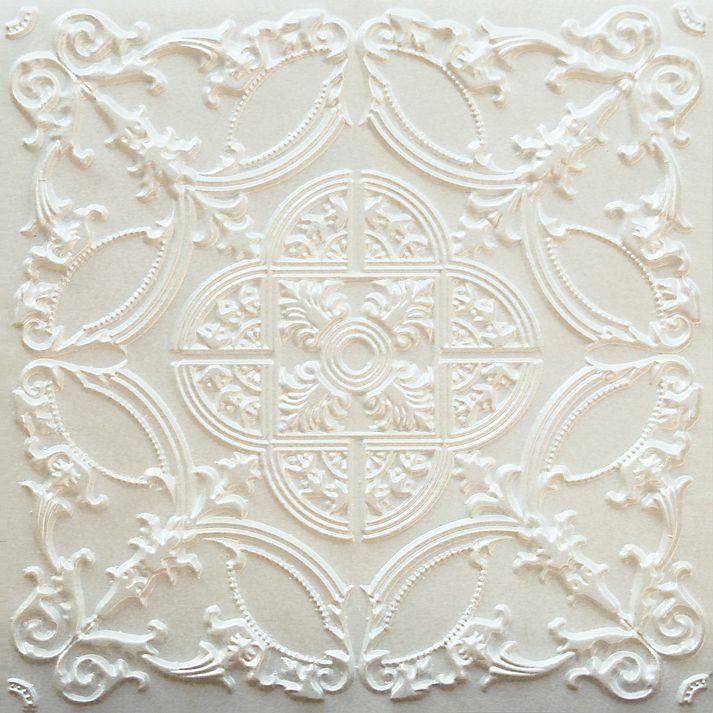 218 White Pearl Tin Ceiling Panel Basteln Mit Papier Basteln Papier