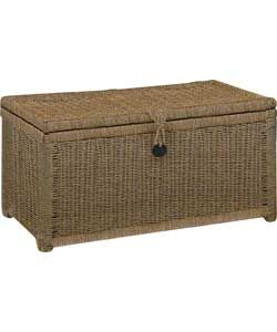 Charmant Large Seagrass Storage Chest   Natural.