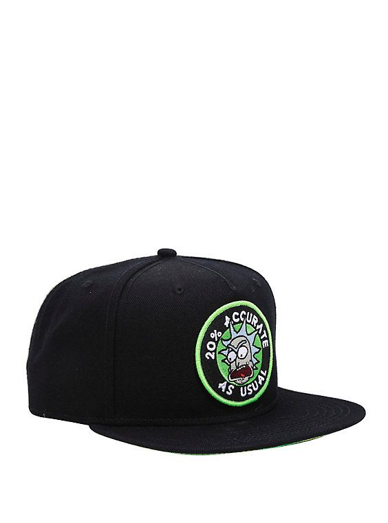 476ebe42e53 Rick And Morty 20 Percent Accurate Snapback Hat