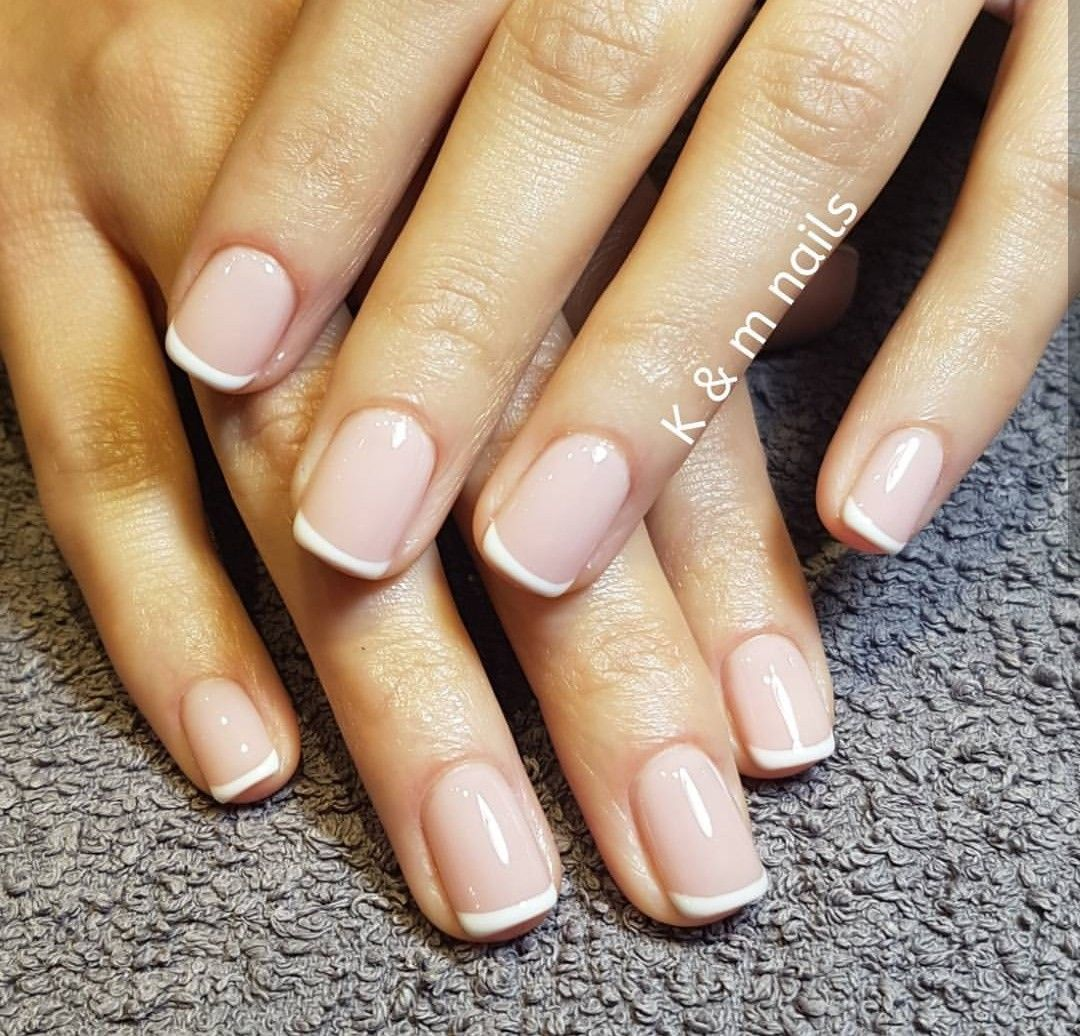 Natural french manicure | K & m nails | Pinterest | Natural french ...