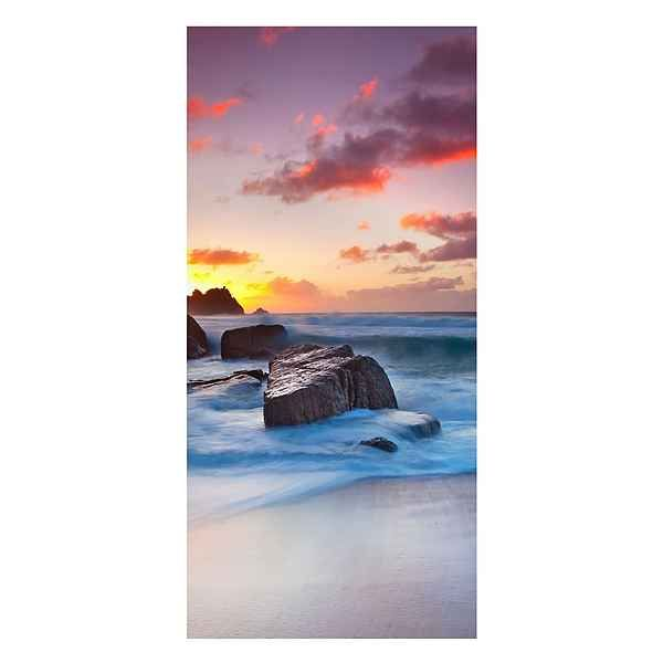 Bilderwelten Magnettafel Hoch 78cm x 37cm »Am Meer in Cornwall - magnettafel für die küche