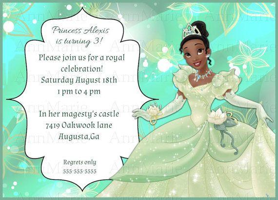 Princess tiana birthday invitation princess and by annmariedsgns princess tiana birthday invitation princess and by annmariedsgns filmwisefo