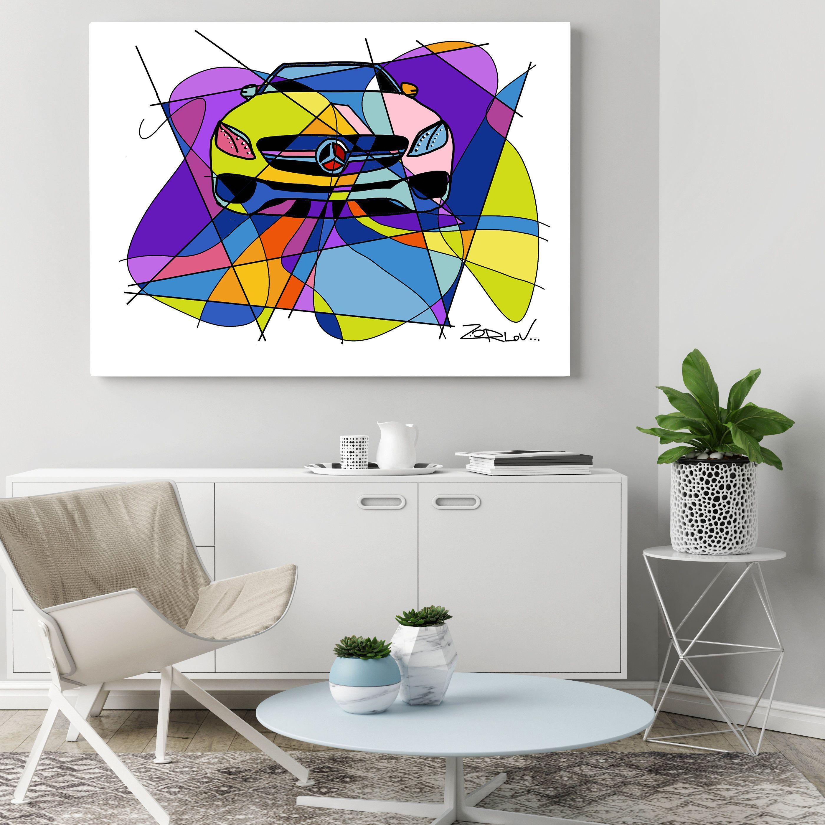 Mercedes Mercedes Art Print Purple Mercedes Painting Canvas Etsy Figurative Wall Art Canvas Painting Canvas Art Painting