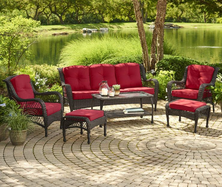 Wilson & Fisher Pinehurst Red 12Piece Replacement Cushion