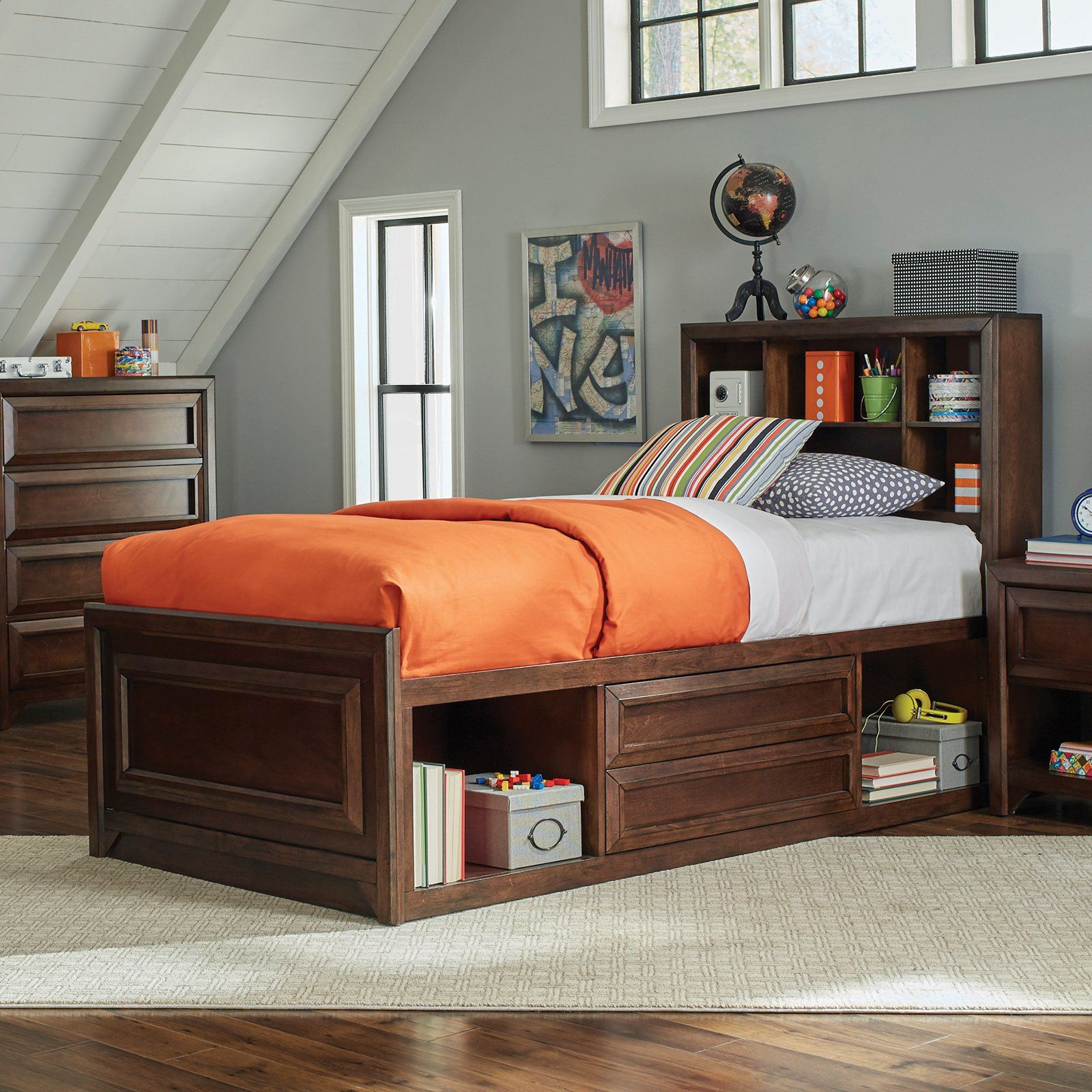 Coaster Furniture Greenough Twin Bed with Bookcase Storage