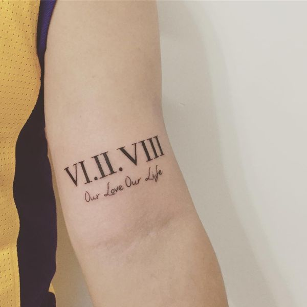 One of the Best Roman Numeral Tattoo on Inner Forearm