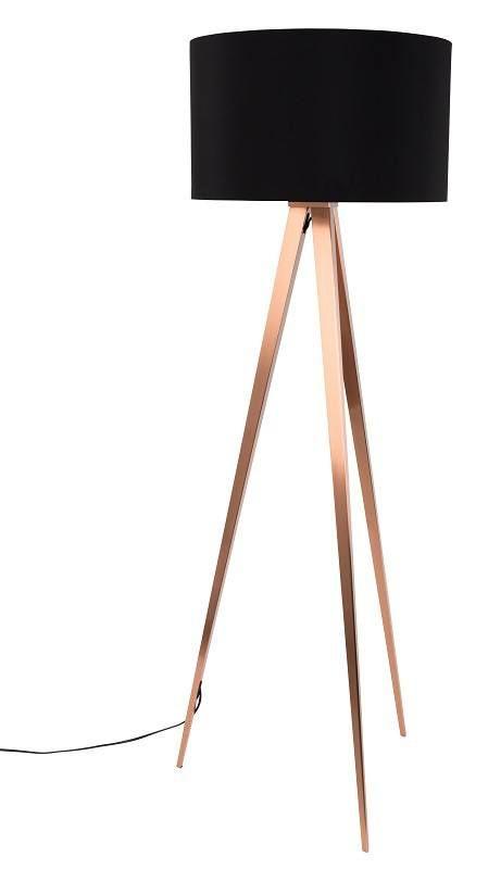 Zuiver Tripod Gulvlampe Kopper Svart | Lampe design