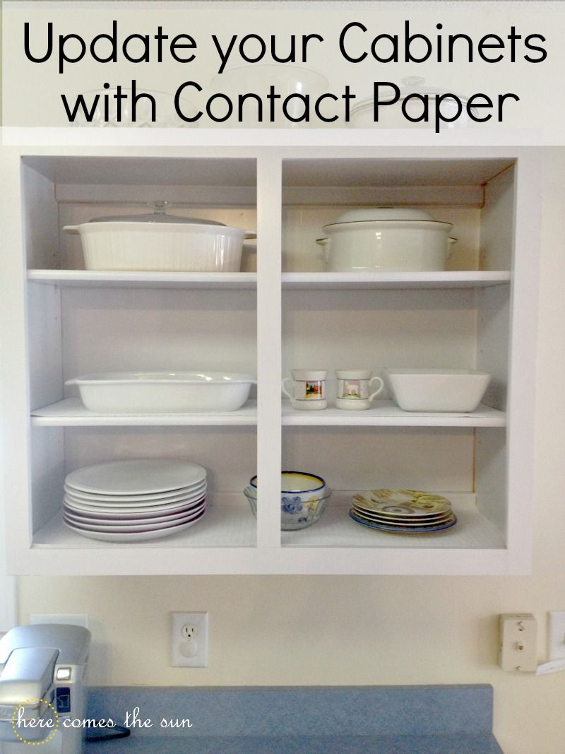 Update Cabinets With Contact Paper Here Comes The Sun Update Cabinets Kitchen Upgrades Cabinet