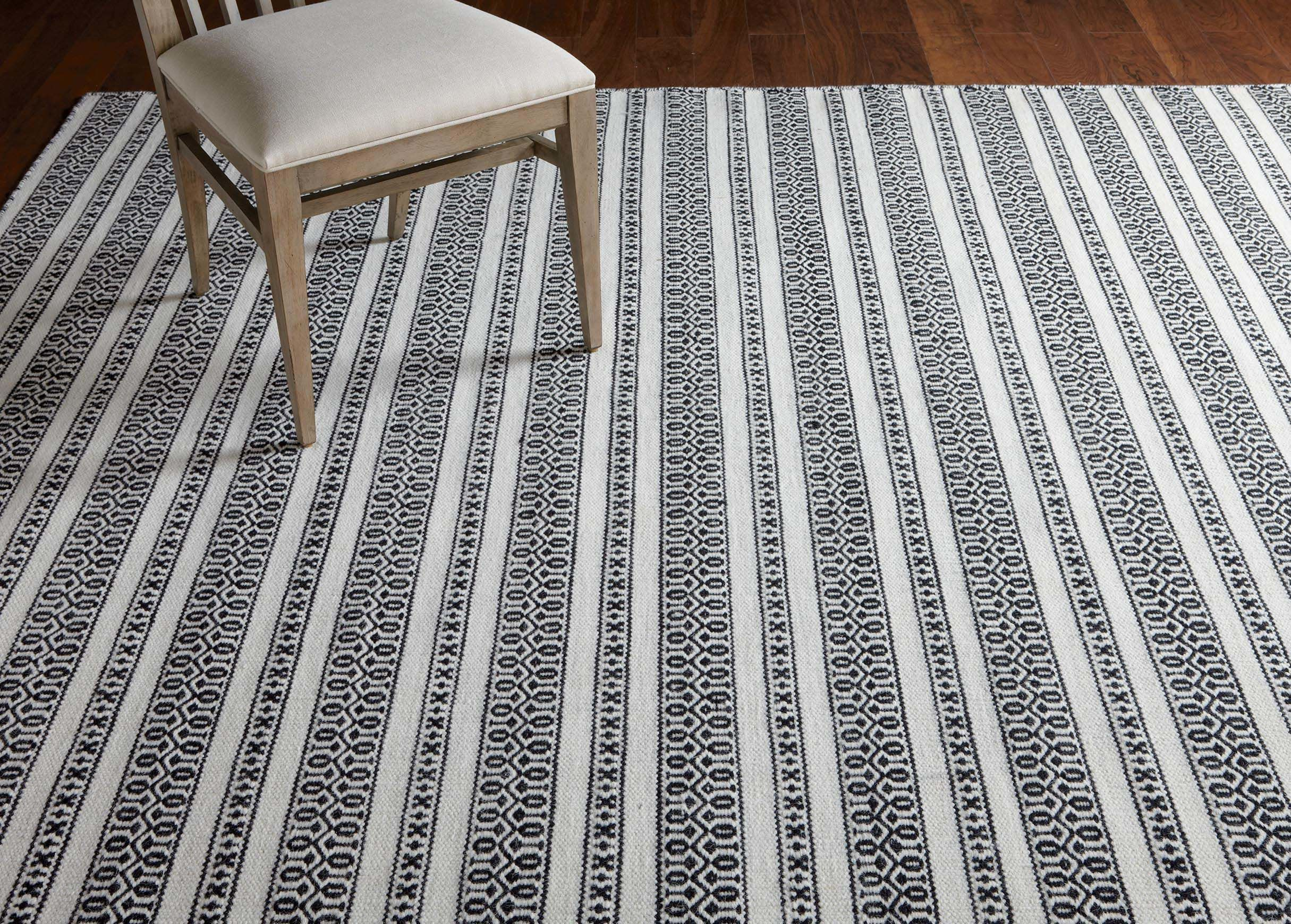 Woven Symmetry Rug Cream Black Flat Woven Rug Rugs Clearance Rugs