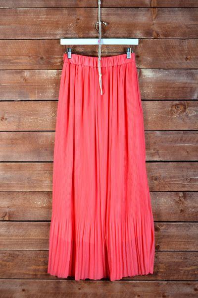 Calla Maxi Skirt Coral - Nobella Grace Boutique! Coral maxi skirt for spring/summer! #nobellagrace