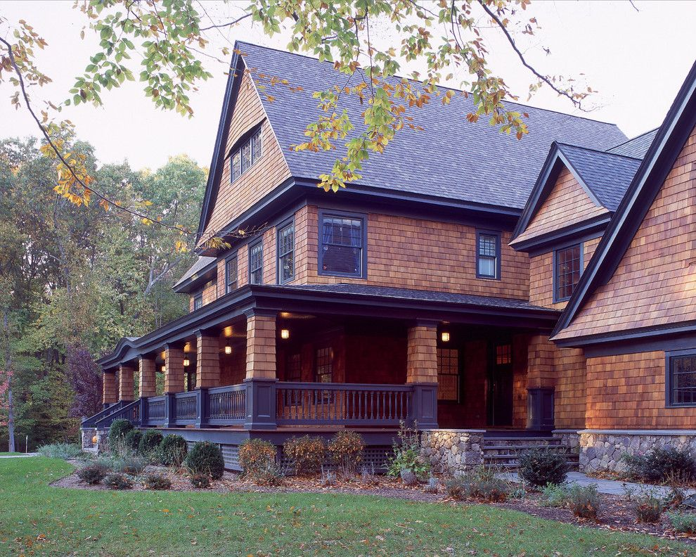 Best Brown House With Green Roof And Cedar Deck Cedar Shake Vinyl Siding Exterior Victorian With 400 x 300