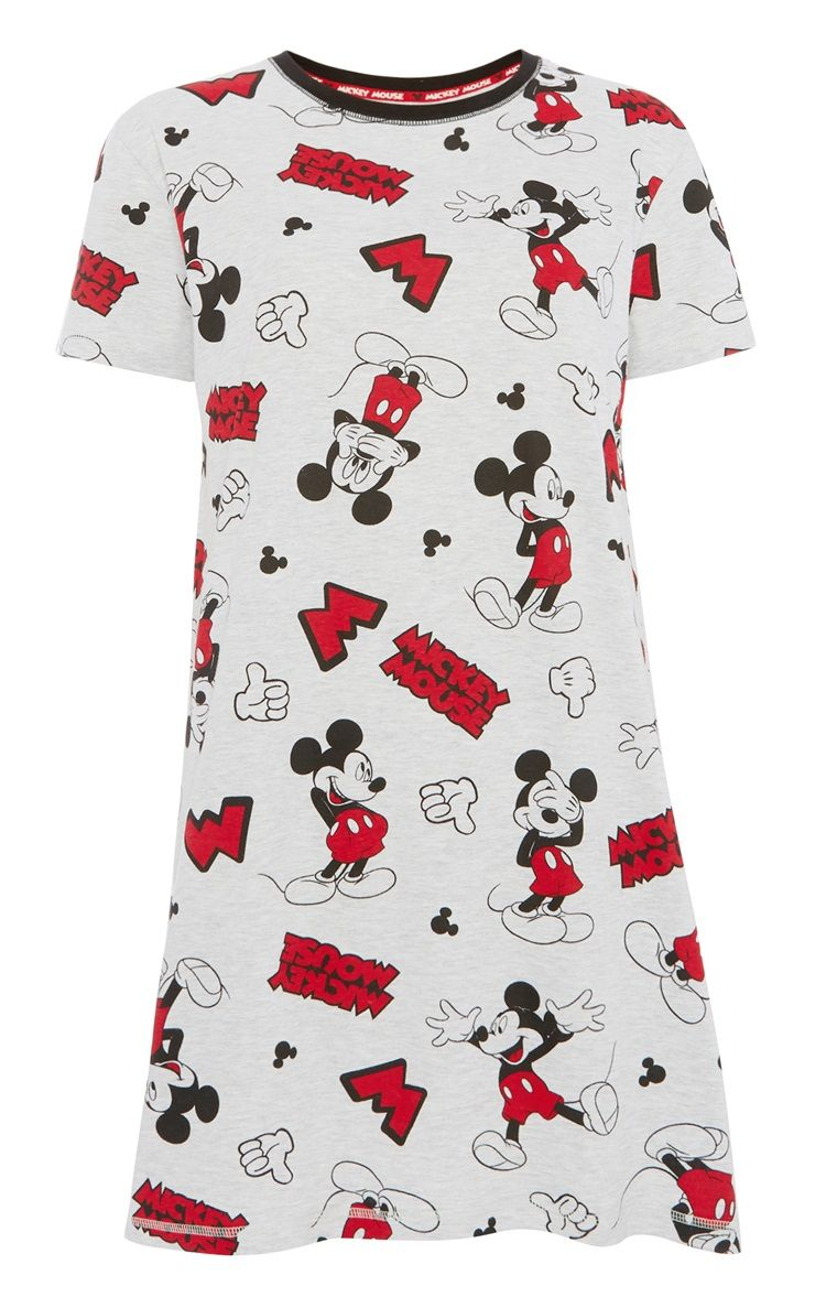 Disney Girls Short Sleeve Minnie Mouse Silky Night Gown
