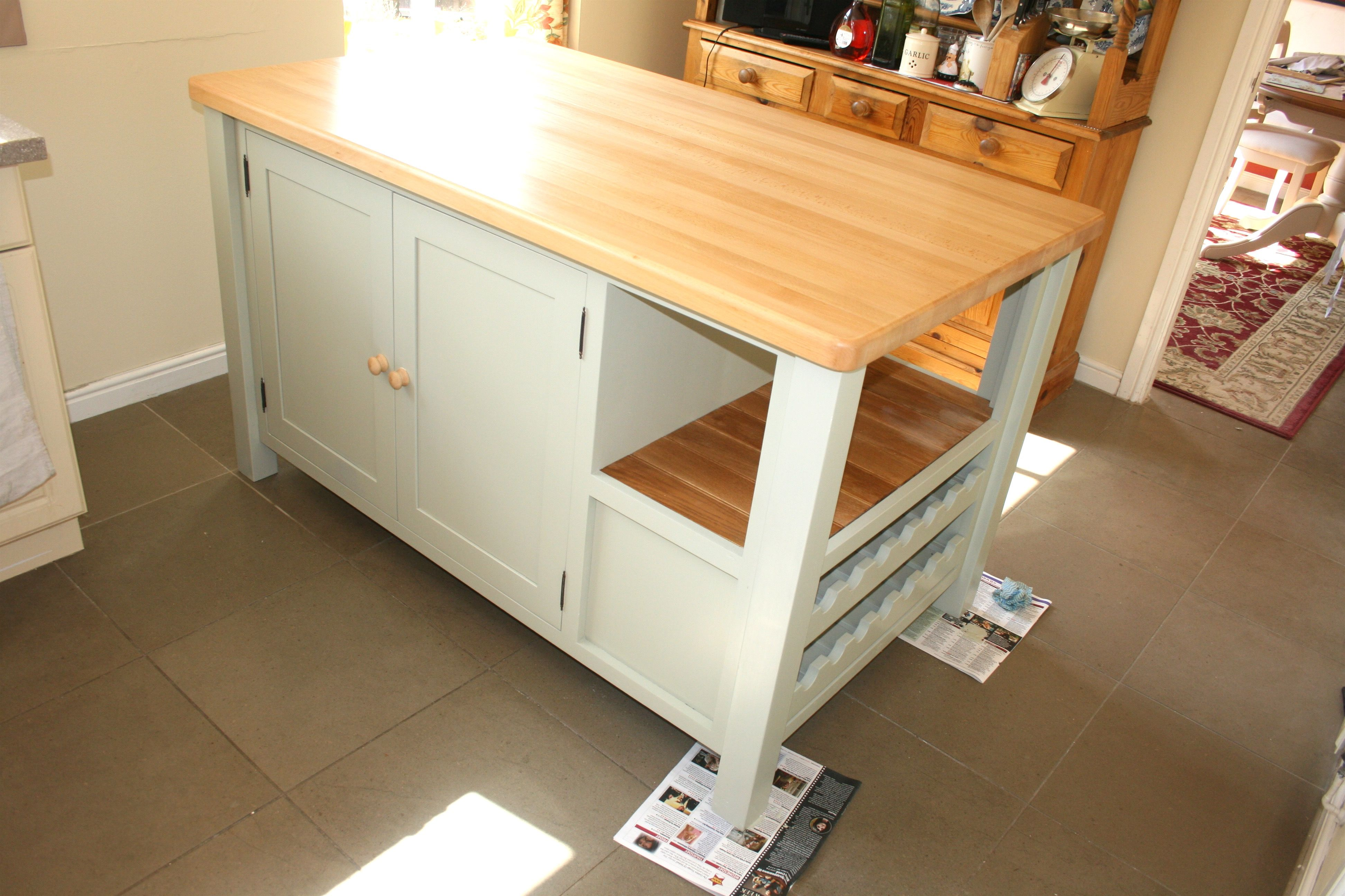 Freestanding kitchen island unit best cap pine and oak furniture build your from free standing unitsa