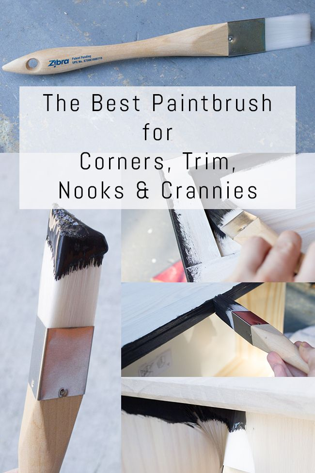 The Best Paintbrush For Corners Trim Nooks Crannies Erin Spain Nook And Cranny Painting Trim Best Paint For Trim