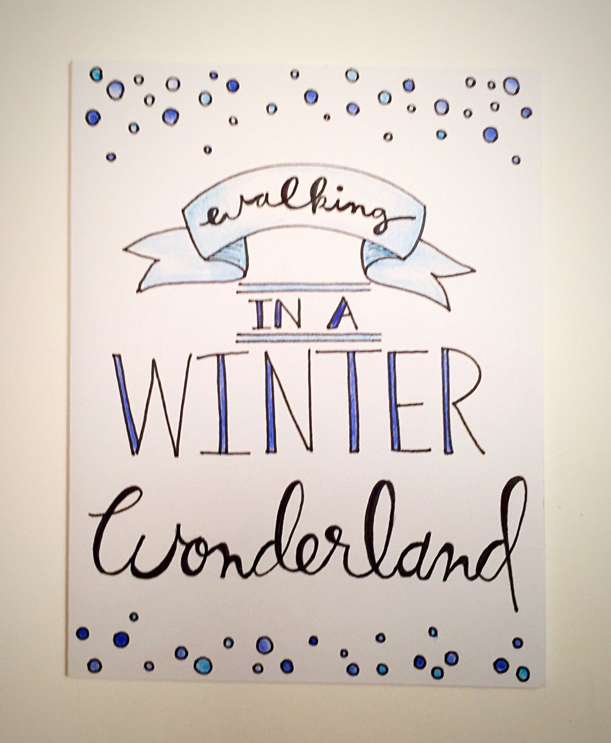 Walking in a Winter Wonderland - Christmas card, holiday card ...