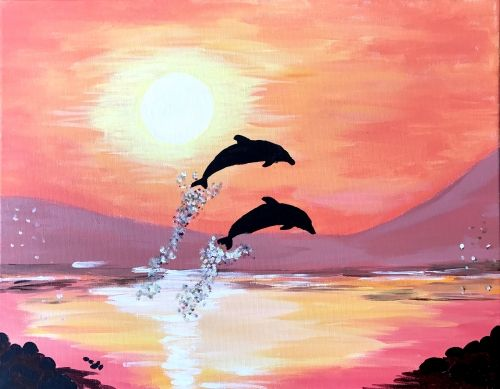 Raise Your Glass To A New Kind Of Night Out Paint Nite Invites You To Create Art Over Cocktails At A Local Restaurant Or Painting Art Misty Mountain Hop