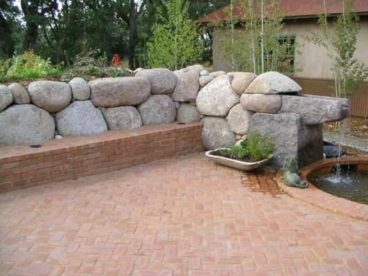 Granite Boulder Retaining Wall Water Feature Wall Boulder Retaining Wall Retaining Wall