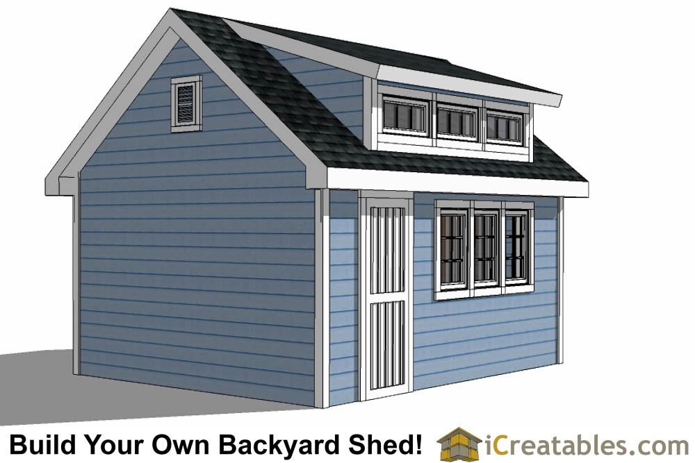 12x16 Shed With Dormer Roof Plans Right Building A Shed Diy Shed Plans Shed Plans 12x16