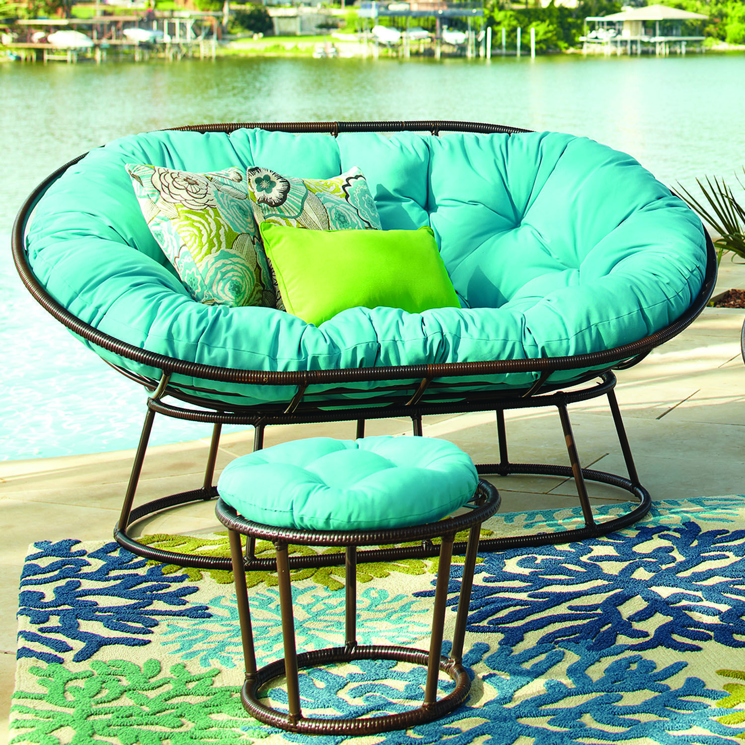Outdoor Mocha Double Papasan Chair Frame Room Ideas Pinterest