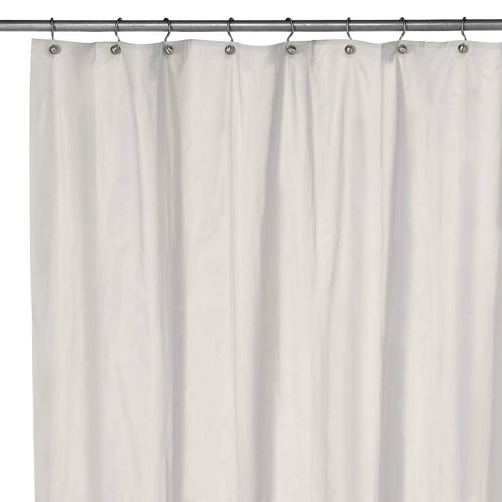 Product Image For Eco Soft Extra Long Shower Curtain Liner In