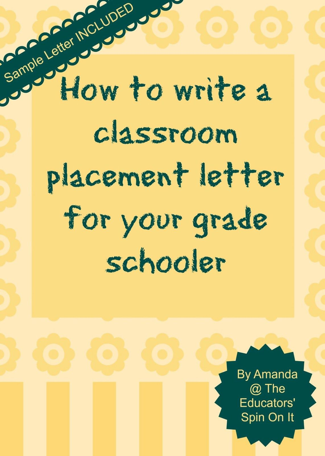 Writing a Classroom Placement Letter or Teacher Request